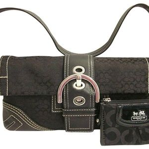 Coach  Shoulder Bag Set Of Purse & Key Card Wallet